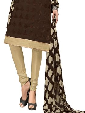 Khushali Fashion Chanderi Embroidered Unstitched Dress Material -BRCRN1009