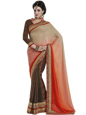 Beautiful Pack of 3 Heavy Embroidered Sarees - By Bahubali