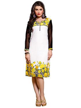 Khushali Fashion Georgette Printed Stitched Kurti -Cnt1754