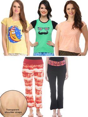 Pack of 6 Clovia Loungewear Set-clo01