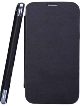 Camphor Flip Cover for Micromax A34 - Black