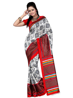 Pack of 2 Carah Art Silk Printed Saree - Multicolor - CRH-N237