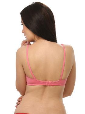 Clovia Blended Plain Bra - Reddish Pink