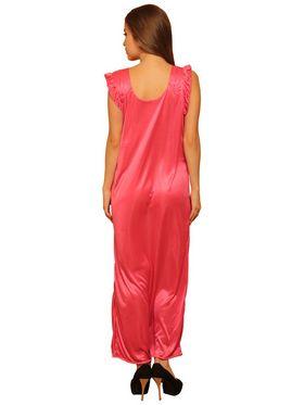Set of 8 Clovia Blended Satin Plain Nightwear - NSM083P99O