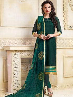 Viva N Diva Semi Stitched Banarasi Chanderi Jacquard Embroidered Suit Color-Blossom-03-1057