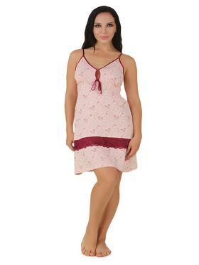 Fasense Shinker Cotton Floral Print Nightwear Short Nighty -DP154A1