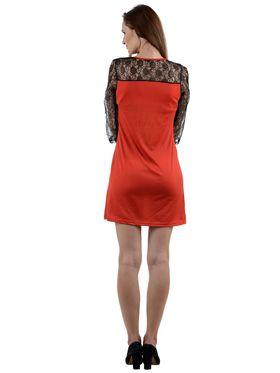 Arisha Viscose Solid Dress DRS1011_Rd