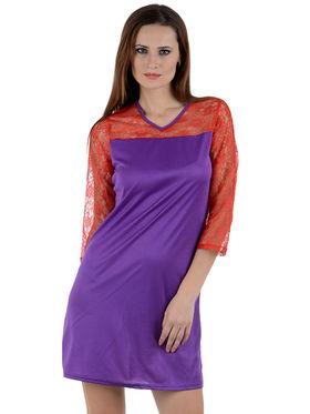 Arisha Viscose Solid Dress DRS1011_Rd-Prpl