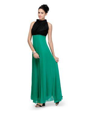 Arisha Viscose Solid Dress DRS1026_Grn