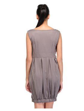Arisha Viscose Solid Dress DRS1028_Gry