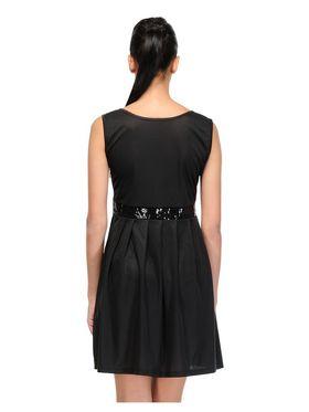 Arisha Viscose Solid Dress DRS1029_Blk