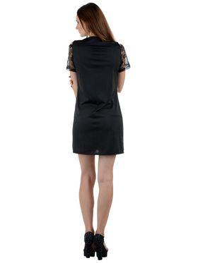 Arisha Cotton Solid Dress DRS1033_Blk