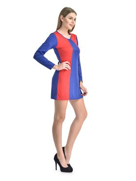 Arisha Viscose Solid Dress DRS1067_Blu-Rd