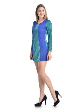 Arisha Viscose Solid Dress DRS1067_Trq-Blu