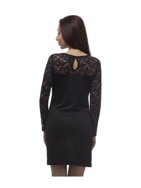 Arisha Viscose Solid Dress DRS2021Blk-M
