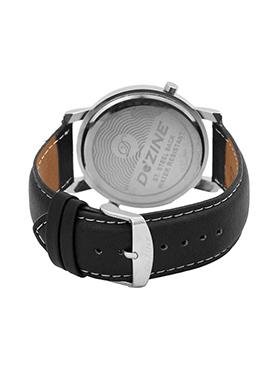 Dezine Wrist Watch for Men - White_DZ-GR030-WHT-BLK