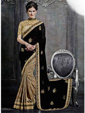 Viva N Diva Georgette & Jacquard Embroidered Saree -Dramatic-5103