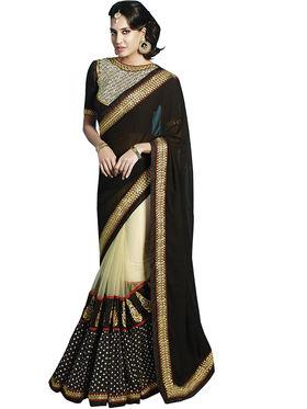 Zoom Fabrics Georgette Embroidered Saree -E706