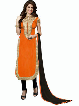 Khushali Fashion Bangalori Silk Embroidered Unstitched Dress Material -ESK602