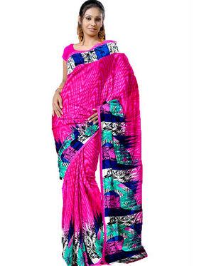Ethnic Trend Chiffon Printed Saree - Multicolour - 1440-C