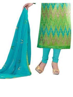 Fabfiza Embroidered Cotton Semi Stitched Salwar Suit_FB-5095