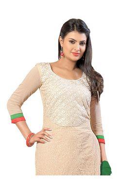 Fabfiza Embroidered Cotton Semi Stitched Salwar Suit_FB-6354
