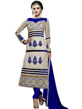 Fabfiza Embroidered Net Semi Stitched Salwar Suit_FBAS-905