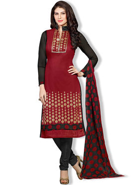 Fabfiza Printed Cotton Semi Stitched Straight Suit_FBDM5-028