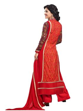 Fabfiza Embroidered Georgette Semi Stitched Straight Suit_FBHN3-55019