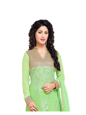 Fabfiza Embroidered Net Semi Stitched Straight Suit_FBHN4-69005