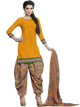Fabfiza Printed Cotton Semi Stitched Straight Suit_FBPT-3135