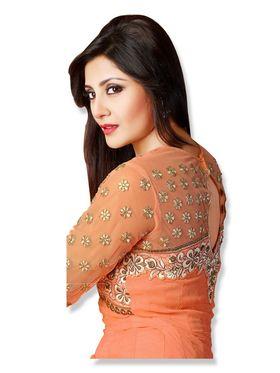 Fabfiza Embroidered Georgette Semi Stitched Anarkali Suit _FBQN-106