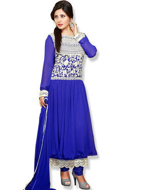 Fabfiza Embroidered Georgette Semi Stitched Anarkali Suit_FBQN-107