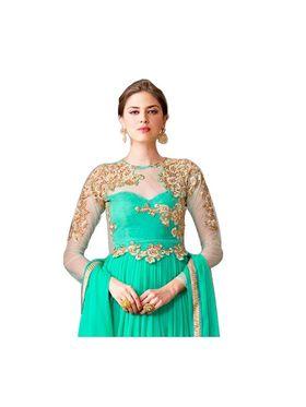 Fabfiza Embroidered Georgette Semi Stitched Anarkali Suit _FBVR-106