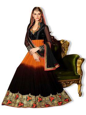 Fabfiza Embroidered Georgette Semi Stitched Anarkali Suit _FBZS-509