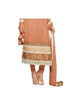 Fabfiza Embroidered chiffon Semi Stitched Straight Suit_FBZS13-5873