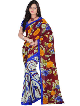 Florence Faux Georgette  Printed  Sarees FL-10978