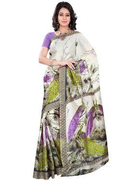 Florence Art Silk Printed  Sarees FL-10982