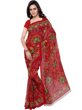 Florence Faux Georgette Printed  Sarees -FL-11213