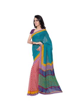 Florence Printed Faux Georgette Sarees -FL-11242
