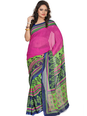 Florence Faux Georgette  Printed  Sarees FL-3192-A