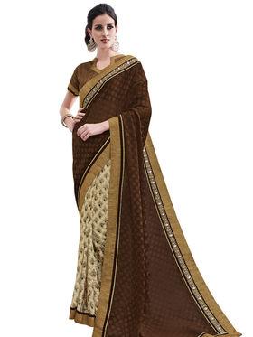 Bahubali Georgette and Net Jacquard  Embroidery Saree -GA20014