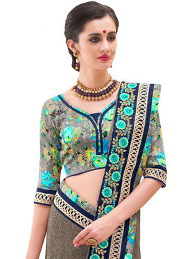 Indian Women Embroidered Georgette Saree -Ga20218