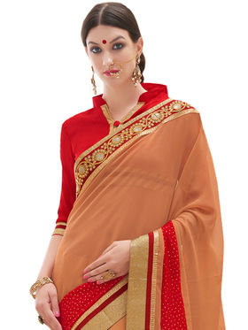 Indian Women Embroidered Georgette Saree -Ga20229