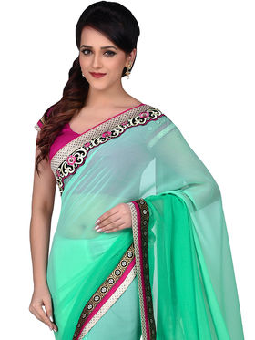 Shonaya Embroidered Georgette Sarees -Hiimx-6027