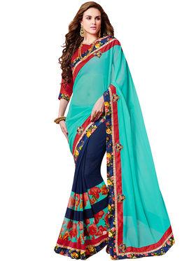 Indian Women Designer Printed Georgette Saree -Ic11226