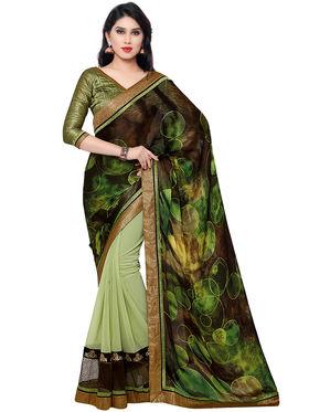 Indian Women Crepe�Jacquard Saree -IC40411