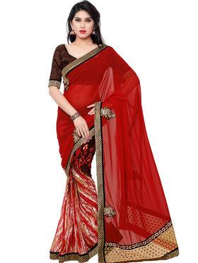 Indian Women Georgette Saree -IC40422