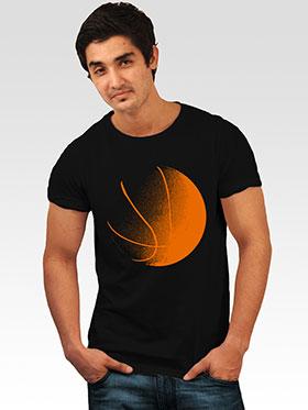 INCYNK Printed Round Neck Half Sleeves T Shirt for Men - Black_MHT105_BLACK_1