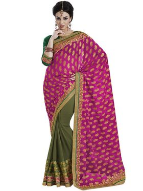Pack of 2 Bahubali Embroidered Sarees - GAL852